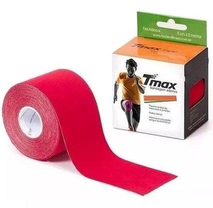 Bandagem Elastica Adesiva Tmax 5mx5cm  Vermelho