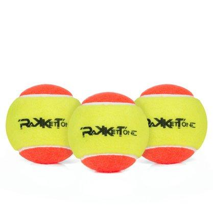 Bola de Beach Tennis Rakkettone Com 3 Unidades