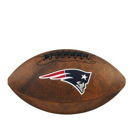 Bola Futebol Americano Wilson NFL JR Trowback Team New England Patriots