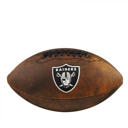 Bola Futebol Americano Wilson NFL JR Trowback Team Oakland Raiders