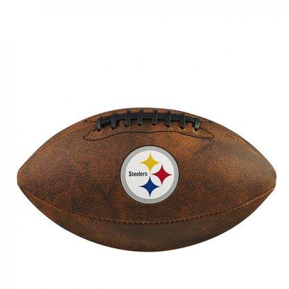 Bola Futebol Americano Wilson NFL JR Trowback Team Pittsburgh Steelers