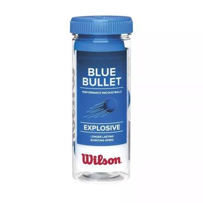 Bola Frescobol Wilson Blue Bullet Tubo com 3 bolas