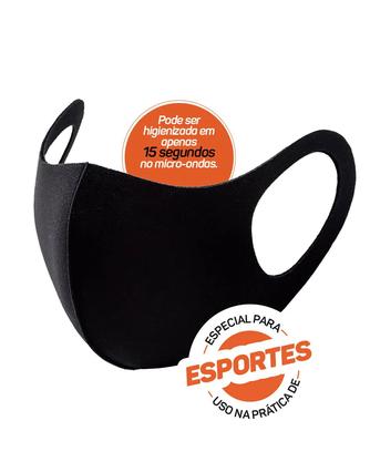 Máscara Multiesportiva Com Elastano para Proteção Facial Poker